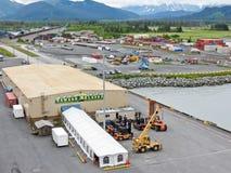Terminal de bateau de croisière de l'Alaska Seward Photographie stock libre de droits