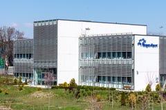 Terminal de cargaison dans l'aéroport de Burgas en Bulgarie Photographie stock libre de droits
