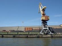 Terminal de cargo de port maritime pour l'iol Image libre de droits