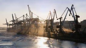 Terminal de carvão de mar Fotografia de Stock