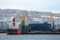 Terminal de carvão de mar Fotos de Stock
