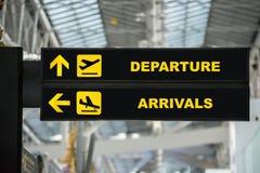 Terminal a de connexion de conseil de l'information de départ et d'arrivée d'aéroport Image libre de droits