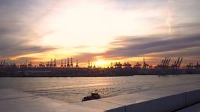 Terminal de contenedores Burchard Kai | Hamburgo almacen de metraje de vídeo