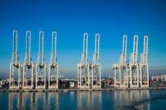 Terminal de contenedores en el puerto de Jebel Ali foto de archivo libre de regalías
