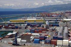 terminal de conteneur Image libre de droits