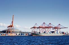 Terminal de conteneur de Seattle Photos stock