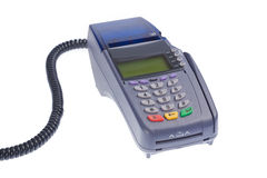 terminal de crédit de carte Image libre de droits