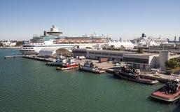 Terminal de croisière à Miami Images libres de droits