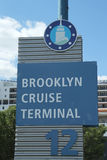 Terminal de croisière de Brooklyn image libre de droits