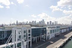 Terminal de croisière de Miami Images libres de droits