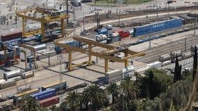 Terminal de ferrocarril industrial Foto de archivo libre de regalías