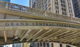 Terminal de Grand Central, estação de Grand Central, viaduto de Park Avenue, viaduto do quadrado de Pershing, New York City, NYC, Imagens de Stock