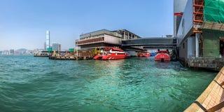 Terminal de Hong Kong - de balsa de Macau em Victoria Habor Imagem de Stock