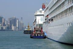 terminal de Hong Kong de cruiseship images libres de droits