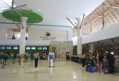Terminal 2 in de Internationale Luchthaven van Punta Cana, Dominicaanse Republiek Royalty-vrije Stock Afbeelding