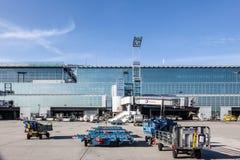 Terminal 2 de l'aéroport de Francfort Images libres de droits