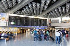 Terminal de l'aéroport de Francfort, Allemagne Photos stock