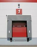 Terminal de la descarga del carro Fotos de archivo