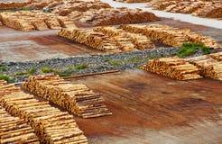 Terminal de la exportación de la madera fotos de archivo