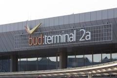Terminal 2a de la Hongrie d'aéroport de Budapest Image libre de droits
