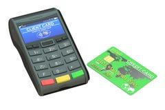 Terminal de la posición y tarjeta de crédito Imagenes de archivo