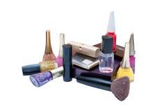 Terminal de marcado manual de cosméticos femeninos Foto de archivo libre de regalías
