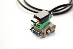 Terminal de marcado manual de los adaptadores para el ordenador Fotografía de archivo
