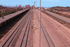 Terminal de minerai de fer de Sishen Saldanha, le Cap-Occidental, Afrique du Sud Images libres de droits