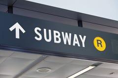 Terminal de New York Staten Island o sinal do metro Foto de Stock