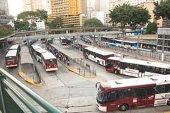 Terminal de ônibus de Bandeira Imagem de Stock
