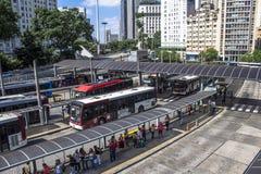 Terminal de ônibus de Bandeira Imagem de Stock Royalty Free