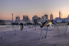 Terminal de Osanbashi, Yokohama, Japón foto de archivo
