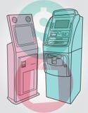 Terminal de paiement, atmosphère Image stock