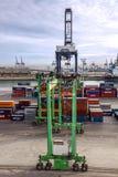 Terminal de récipient dans le port maritime de Casablanca, Maroc Photos stock