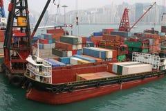 Terminal de recipiente de Hong Kong Foto de Stock