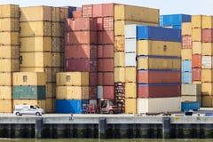 Terminal de recipiente do mar Foto de Stock