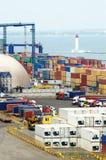 Terminal de recipiente, porto marítimo de Odessa, Ucrânia Foto de Stock