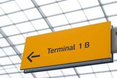 terminal de signe Photos libres de droits