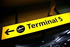 terminal de signe d'aéroport Images libres de droits