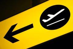 terminal de signe de détail d'aéroport Photographie stock libre de droits