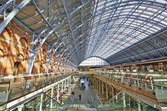 Terminal de station de Saint-Pancras Photographie stock libre de droits
