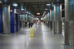 Terminal de train rapide de Stansted Photo stock