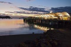 Terminal de transbordadores de la isla de Waiheke Imágenes de archivo libres de regalías