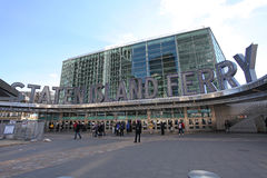 Terminal de transbordadores de Staten Island en Manhattan, NY, los E.E.U.U. Imágenes de archivo libres de regalías