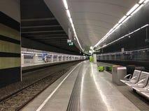 Terminal de transfert de CAT de train d'aéroport de ville de Vienne situé dans la station de Wien Mitte à Vienne, Autriche images libres de droits
