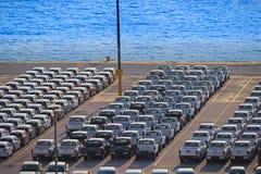 Terminal de transport de véhicule Photos libres de droits