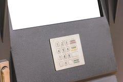 Terminal del autoservicio del teclado Imagen de archivo