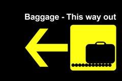 Terminal del bagaje de la línea aérea Imagen de archivo libre de regalías
