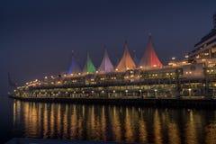 Terminal del barco de cruceros en el lugar Vancouver de Canadá imagen de archivo libre de regalías