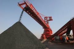 Terminal del carbón del acceso de China Qingdao Imagen de archivo